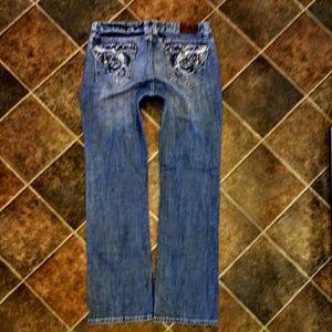 c99592e1fdd Adiktd Jeans Plus Size 14 Long Boot Cut Bling